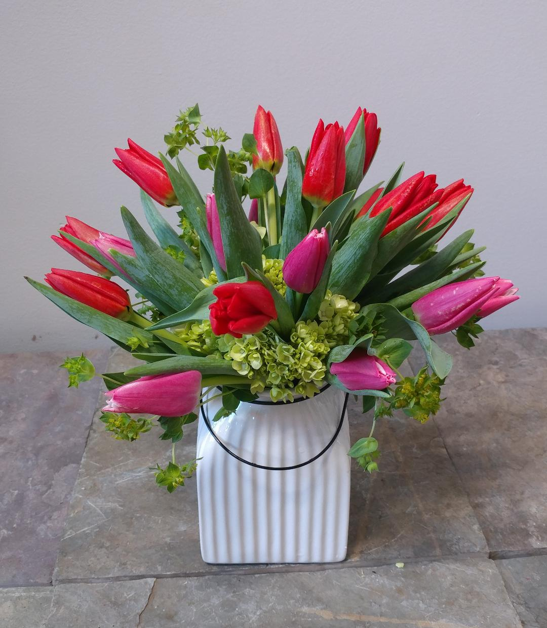 Crock of Tulips